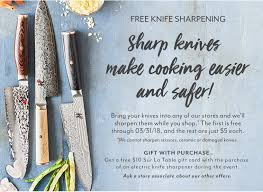 sur la table knife sharpening free store locator southpark mall charlotte nc sur la table