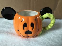 mickey mouse pumpkin head happy halloween coffee mug cup disney