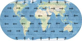 Wind Direction Map Is Flying East To West Faster Than Flying The Same Distance West