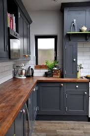 kitchen cabinet colors with butcher block countertops navy blue kitchen cabinets with butcher block counters