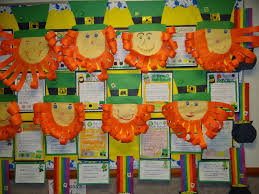 Classroom Soft Board Decoration Ideas Patties Primary Place St Patrick U0027s Day Singing Time