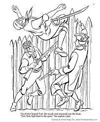 treasure island coloring pages pirates long john silver
