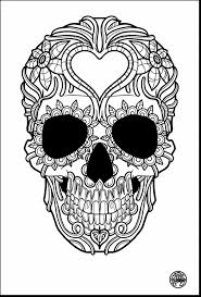 outstanding skull and roses coloring pages with sugar skull