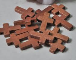 small wood crosses 50pcs small wood cross charms brown wooden cross pendant 8 5x8