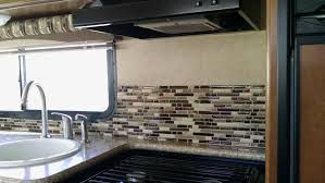 peel and stick tiles for the rv smart tiles backyard a peel and stick backsplash for a modern rv