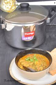 pressure cooker chicken curry and a review of ttk prestige clip on