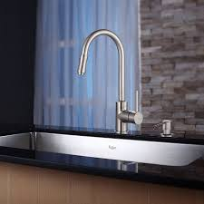 Kraus Kitchen Faucets Inspirations And German Faucet Brands Images Kraus Khu100 32 Kpf1622 Ksd30sn 32 Inch Undermount Single Bowl