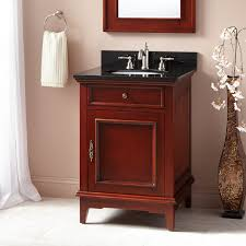 Red Bathroom Cabinets Cherry Bathroom Vanity Signature Hardware