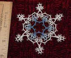57 best tatting snowflakes images on needle tatting