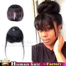 clip on bangs clip in bangs real hair anyomax