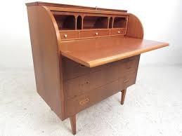 teak roll top desk mid century modern teak roll top desk at 1stdibs regarding roll top