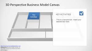 3d perspective business model canvas powerpoint template slidemodel