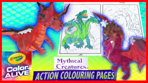 dragons come alive in 3d hydra gargoyle mythical creatures color