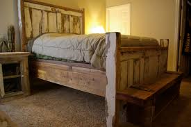 Bench Made From Bed Headboard Old Barn Wood Bed Frames Susan Decoration