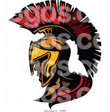 royalty free vector of a logo of a profiled spartan roman soldier