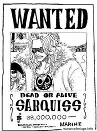 coloriage one piece wanted sarquiss dead or alive dessin