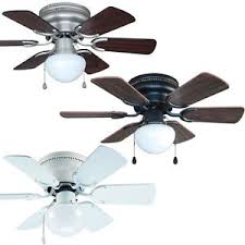 Hugger Ceiling Fan With Light by 30 Inch Flush Mount Hugger Ceiling Fan W Light Kit Satin Nickel