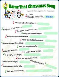 free printable christmas song lyric games christmas song picture game