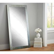 Tall Wall Mirrors Embossed Steel Full Length Wall Mirror Bm26thin The Home Depot