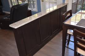 kitchen island with pony wall