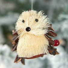 rustic sisal hedgehog ornament ornaments