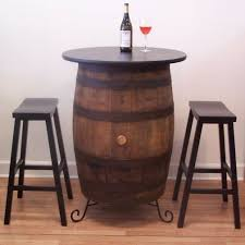 Barrel Bistro Table Vintage Oak Wine Barrel Bistro Table Valeria Furniture