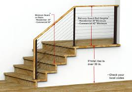 railing building codes guard rail height requirements