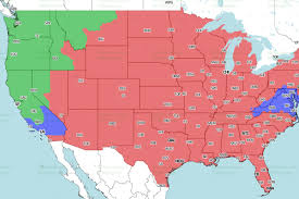 United States Map Games by 49ers Seahawks Tv Schedule Broadcast Maps In The Us