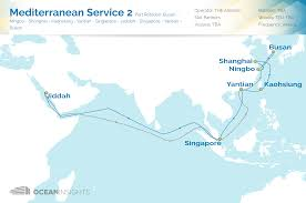 The Red Sea Map The Alliance With New East Asia Red Sea Services Ocean Insights