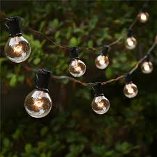 Hanging Patio Lights String String Lights With 25 G40 Globe Bulbs Ul Listed For Indoor Outdoor