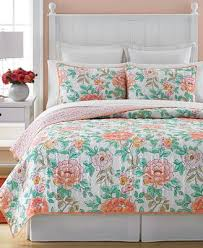 Macy S Bed And Bath Closeout Martha Stewart Collection Village Peony Quilts And Shams