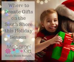 where to donate gifts on the south shore this season