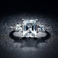 vintage square engagement rings aliexpress buy vintage square rings for white silver