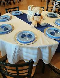 Teddy Bear Centerpieces by Baby Blocks Bears And Bowties Baby Shower Party Ideas Baby