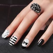 20 dazzling nail art designs with black nail polish black nail