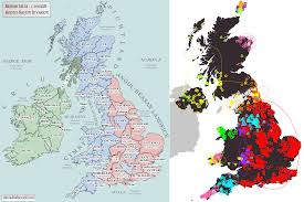 Map Of Ireland And England by Maps Of Britain And Ireland U0027s Ancient Tribes Kingdoms And Dna