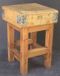 french butcher u0027s chopping block table on stand at 1stdibs