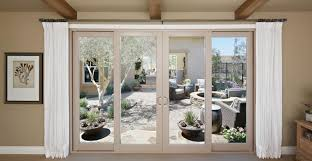 Sliding French Patio Doors With Screens Patio Doors Pictures U2013 Black Coated Metal Frame Finish Polished