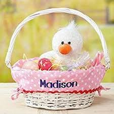 personalized wicker easter baskets personalized classic woodchip easter basket with custom designed