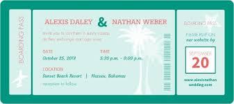 boarding pass wedding invitations mint boarding pass wedding invitation wedding invitations
