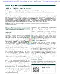 titanium allergy testing titanium allergy a literature review pdf available