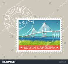 south carolina postage stamp design vector stock vector 522454936