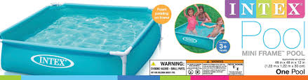 Intex Pool Frame Parts Intex Mini Frame Kids 48 U201d X 48 U201d X 12 U201d Beginner Kiddie Swimming