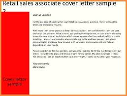 sample resume for retail sales associate retail cover letter sales