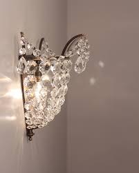 exterior design charming crystal wall lights design crystal wall