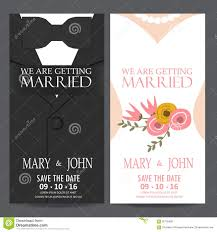 wedding card from groom to and groom wedding invitation card stock vector