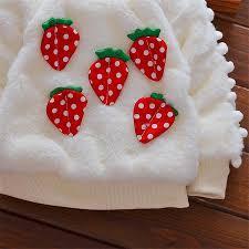 strawberry sweater fleecy strawberry winter sweater truebluekid