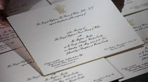 royal wedding invitation see royal wedding invitations embossed in gold cnn
