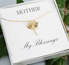 Personalized Initial Jewelry Gold Cross Necklace Personalized Initial Necklace Personalized