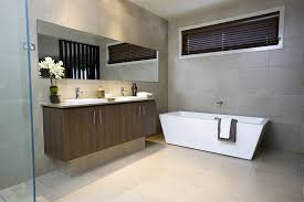 small contemporary bathroom ideas with a modern bathtub and large